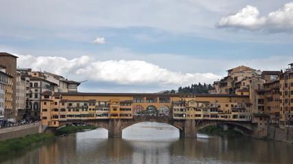 View of Gold (Ponte Vecchio) Bridge in Florence