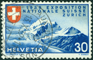 stamp printed in the Switzerland shows Alpine Scenery