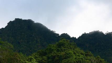 Time lapse cloud mountain nature landscape.