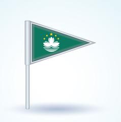 Flag set of Macao, vector illustration