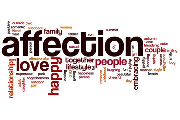 Affection word cloud