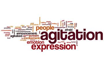 Agitation word cloud
