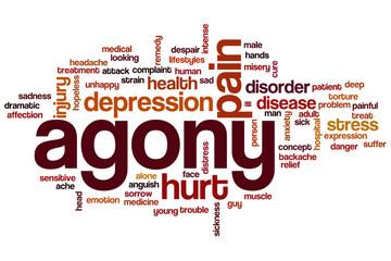 Agony word cloud