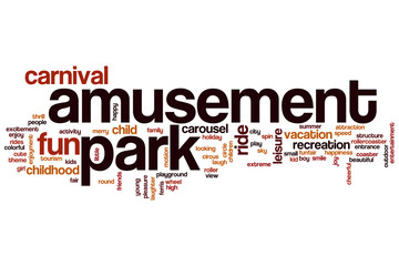 Amusement park word cloud