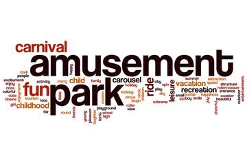 Amusement park word cloud