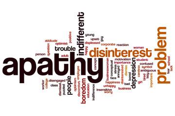 Apathy word cloud