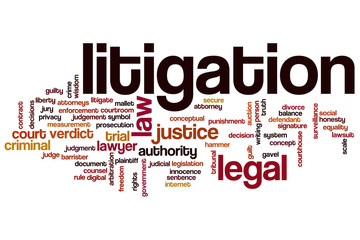 Litigation word cloud