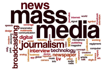 Mass media word cloud