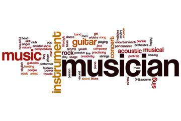 Musician word cloud