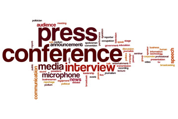 Press conference word cloud