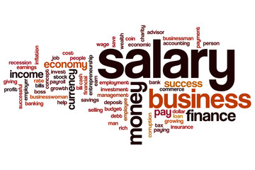 Salary word cloud