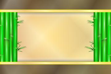 illustration background bamboo