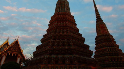 time lapse Wat Pho temple thailand timelapse