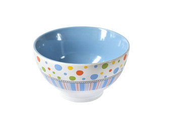 Colorful bowl isolated on white background