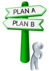Plan A or Plan B concept