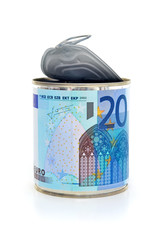 Euro bills canned 2