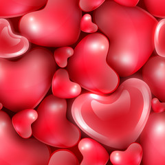 Happy Valentine's Day seamless background