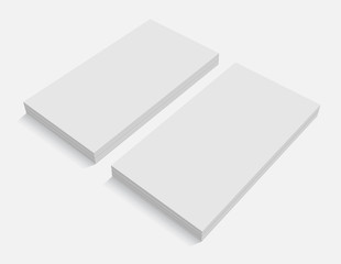 blank business cards for promotion of CI