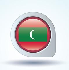 Flag set of Maldives, vector illustration
