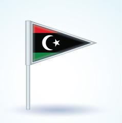 Flag set of Libya, vector illustration