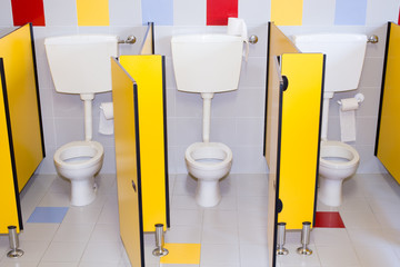 small bathrooms of a school for children