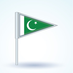 Flag set of Pakistan, vector illustration