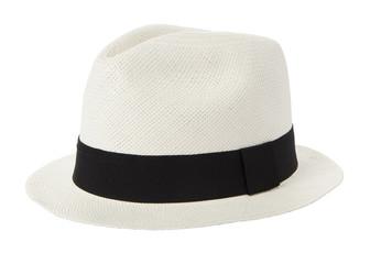 White panama hat isolated on white background