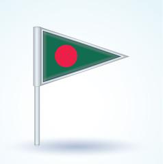 Flag set of Bangladesh, vector illustration