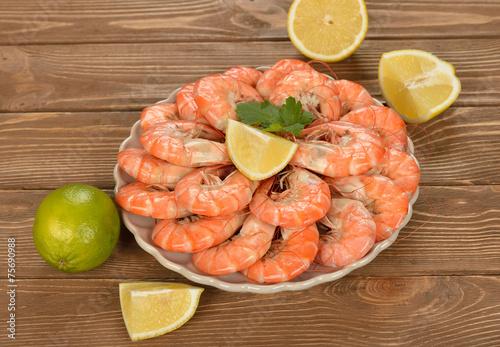 Boiled shrimp - 75690988