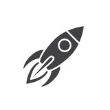 Fototapety Rocket icon