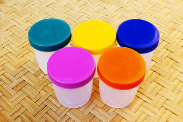 five plastic container