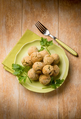 vegetarian meatballs with ricotta and spinach