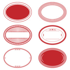 Red Oval Stamp Set