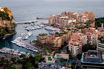 Port de Fontveille panorama. Monte Carlo.