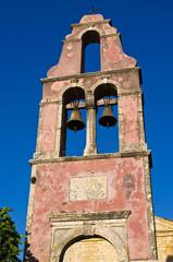 Old belfry on Corfu island, Greece