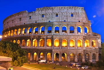 Coliseum, also known as the Flavian Amphitheatre, Rome, Italy