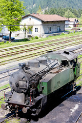 steam locomotive, delivery point in Oskova, Bosnia and Hercegovi