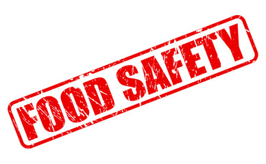 Food safety red stamp text