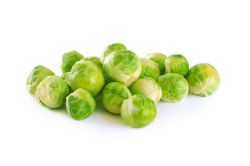 Brussel Sprout isolated on white background