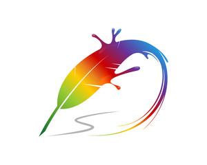 Feather Splash Rainbow