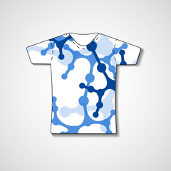 Abstract illustration on t-shirt