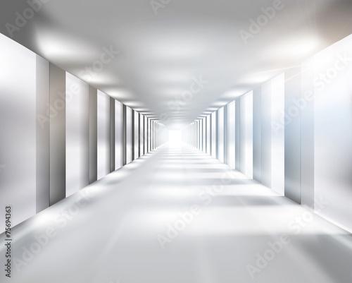 Long passage. Vector illustration. - 75694363