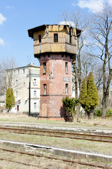 old railway station, Szczytna, Poland