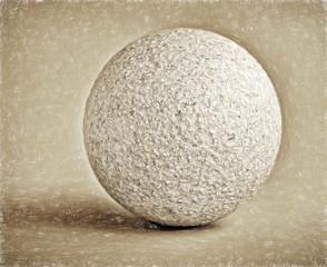 bowl  - illustration based on own photo image