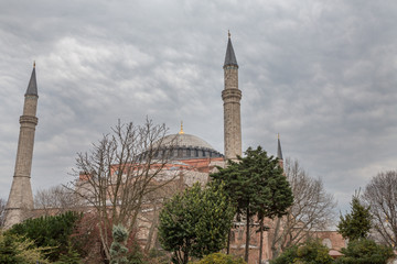 Hagia Sophia on a cloudy day