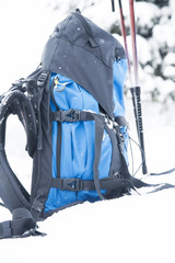 Mountain Backpack with Trekking Sticks