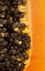 papaya fuit isolated on white backgound