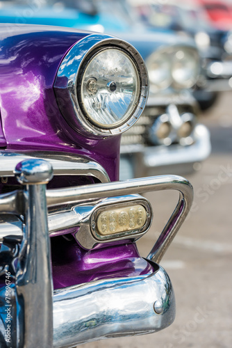 Fotobehang Vintage cars Classic chevrolet and other vintage cars in Old Havana