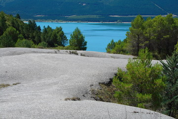 Yesa lake dam near Zaragoza, Navarra province border.