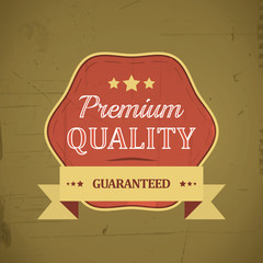 Premium quality retro vintage label with ribbon